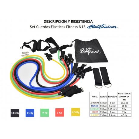 Set Cuerdas Elásticas BodyTrainer Fitness N13