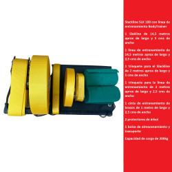 Slackline SLK 100 con línea de entrenamiento BodyTrainer