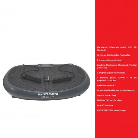 Plataforma Vibratoria FullFit 7000 4D 7en 1 Bluetooth BodyTrainer
